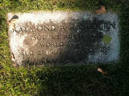 RAYBOURN  (VETERAN WWII), RAYMOND A - Boone County, Arkansas   RAYMOND A RAYBOURN  (VETERAN WWII) - Arkansas Gravestone Photos