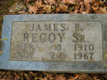 RECOY, SR, JAMES P. - Boone County, Arkansas | JAMES P. RECOY, SR - Arkansas Gravestone Photos