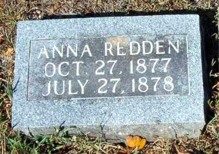 REDDEN, ANNA - Boone County, Arkansas | ANNA REDDEN - Arkansas Gravestone Photos