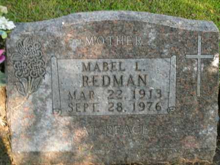 REDMAN, MABEL L. - Boone County, Arkansas | MABEL L. REDMAN - Arkansas Gravestone Photos