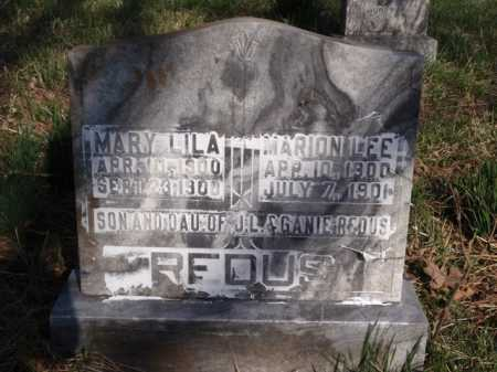 REDUS, MARY LILA - Boone County, Arkansas | MARY LILA REDUS - Arkansas Gravestone Photos