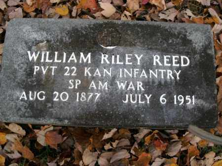 REED  (VETERAN SAW), WILLIAM RILEY - Boone County, Arkansas | WILLIAM RILEY REED  (VETERAN SAW) - Arkansas Gravestone Photos