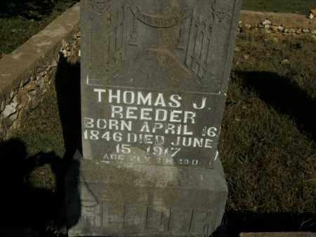 REEDER, THOMAS J. - Boone County, Arkansas | THOMAS J. REEDER - Arkansas Gravestone Photos