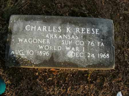 REESE  (VETERAN WWI), CHARLES K - Boone County, Arkansas | CHARLES K REESE  (VETERAN WWI) - Arkansas Gravestone Photos
