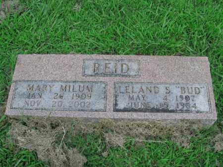 MILUM REID, MARY - Boone County, Arkansas   MARY MILUM REID - Arkansas Gravestone Photos