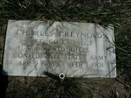 REYNOLDS  (VETERAN CSA), CHARLES J - Boone County, Arkansas   CHARLES J REYNOLDS  (VETERAN CSA) - Arkansas Gravestone Photos