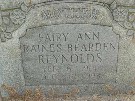 RAINES REYNOLDS, FAIRY ANN - Boone County, Arkansas | FAIRY ANN RAINES REYNOLDS - Arkansas Gravestone Photos