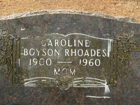 RHOADES, CAROLINE LOUISE - Boone County, Arkansas | CAROLINE LOUISE RHOADES - Arkansas Gravestone Photos