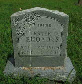 RHOADES, LESTER DAVID - Boone County, Arkansas | LESTER DAVID RHOADES - Arkansas Gravestone Photos
