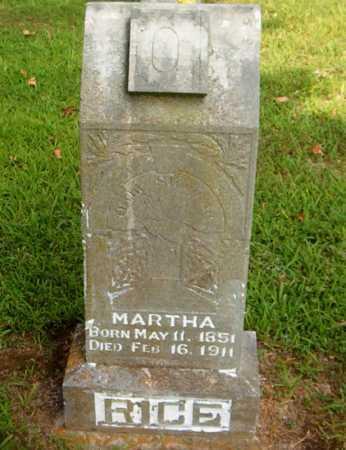 RICE, MARTHA - Boone County, Arkansas   MARTHA RICE - Arkansas Gravestone Photos