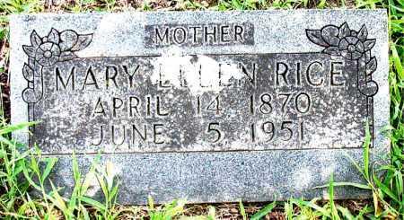 RICE, MARY ELLEN - Boone County, Arkansas | MARY ELLEN RICE - Arkansas Gravestone Photos