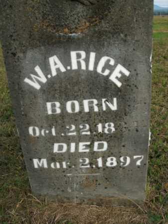 RICE, W.A. - Boone County, Arkansas | W.A. RICE - Arkansas Gravestone Photos