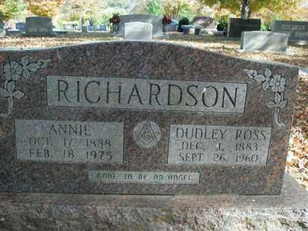 RICHARDSON, ANNIE - Boone County, Arkansas | ANNIE RICHARDSON - Arkansas Gravestone Photos