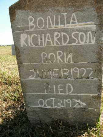 RICHARDSON, BONITA - Boone County, Arkansas | BONITA RICHARDSON - Arkansas Gravestone Photos