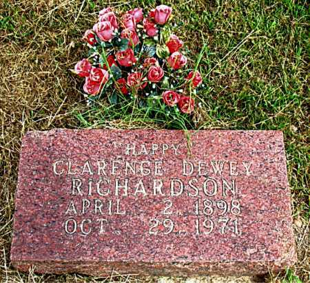 RICHARDSON, CLARENCE DEWEY - Boone County, Arkansas   CLARENCE DEWEY RICHARDSON - Arkansas Gravestone Photos
