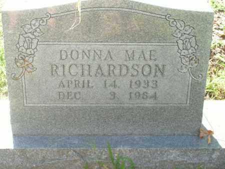 RICHARDSON, DONNA MAE - Boone County, Arkansas   DONNA MAE RICHARDSON - Arkansas Gravestone Photos