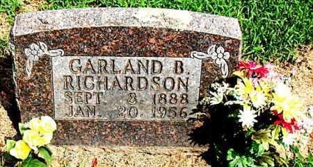RICHARDSON, GARLAND BLAINE - Boone County, Arkansas   GARLAND BLAINE RICHARDSON - Arkansas Gravestone Photos