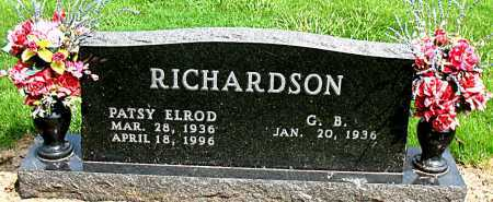 RICHARDSON, PATSY ELROD - Boone County, Arkansas   PATSY ELROD RICHARDSON - Arkansas Gravestone Photos