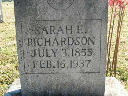 RICHARDSON, SARAH E. - Boone County, Arkansas   SARAH E. RICHARDSON - Arkansas Gravestone Photos