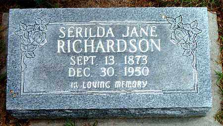 RICHARDSON, SERILDA JANE - Boone County, Arkansas   SERILDA JANE RICHARDSON - Arkansas Gravestone Photos