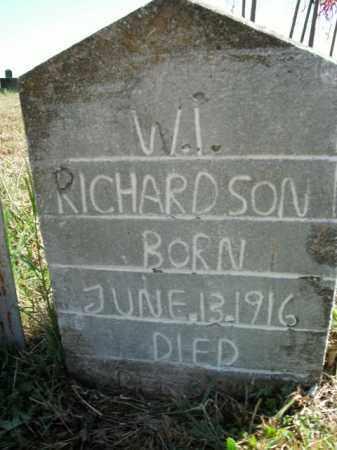 RICHARDSON, W.I. - Boone County, Arkansas | W.I. RICHARDSON - Arkansas Gravestone Photos