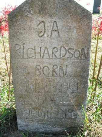 RICHARSON, J.A. - Boone County, Arkansas | J.A. RICHARSON - Arkansas Gravestone Photos