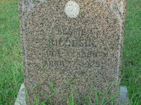 RICHESIN, BESSIE - Boone County, Arkansas   BESSIE RICHESIN - Arkansas Gravestone Photos