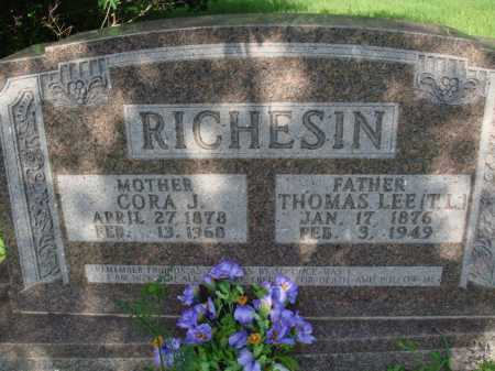 "RICHESIN, THOMAS LEE ""T.L."" - Boone County, Arkansas 