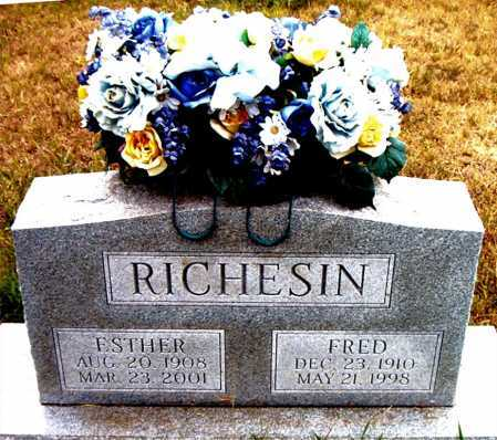 RICHESIN, FRED - Boone County, Arkansas | FRED RICHESIN - Arkansas Gravestone Photos