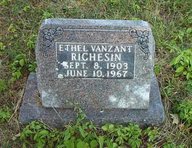 VANZANT RICHESIN, ETHEL - Boone County, Arkansas | ETHEL VANZANT RICHESIN - Arkansas Gravestone Photos