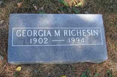 RICHESIN, GEORGIA M. - Boone County, Arkansas   GEORGIA M. RICHESIN - Arkansas Gravestone Photos