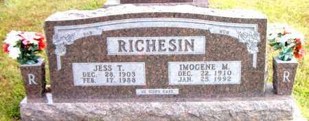 RICHESIN, JESS T. - Boone County, Arkansas | JESS T. RICHESIN - Arkansas Gravestone Photos