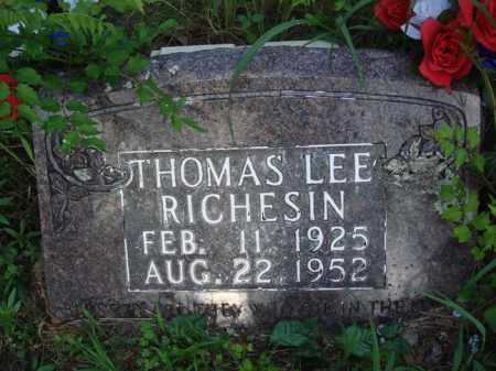 RICHESIN, THOMAS LEE - Boone County, Arkansas | THOMAS LEE RICHESIN - Arkansas Gravestone Photos