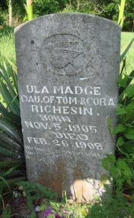 RICHESIN, ULA MADGE - Boone County, Arkansas | ULA MADGE RICHESIN - Arkansas Gravestone Photos
