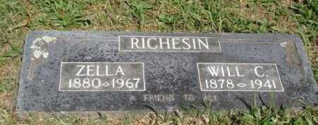 RICHESIN, ZELLA - Boone County, Arkansas | ZELLA RICHESIN - Arkansas Gravestone Photos