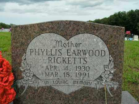 RICKETTS, PHYLLIS VIRGINIA - Boone County, Arkansas   PHYLLIS VIRGINIA RICKETTS - Arkansas Gravestone Photos