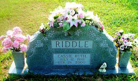 RIDDLE, CASSIE RUTH - Boone County, Arkansas   CASSIE RUTH RIDDLE - Arkansas Gravestone Photos