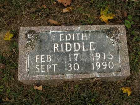 RIDDLE, EDITH - Boone County, Arkansas   EDITH RIDDLE - Arkansas Gravestone Photos