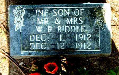 RIDDLE, INFANT SON - Boone County, Arkansas | INFANT SON RIDDLE - Arkansas Gravestone Photos