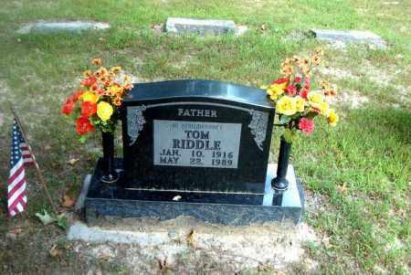 RIDDLE, TOM - Boone County, Arkansas | TOM RIDDLE - Arkansas Gravestone Photos