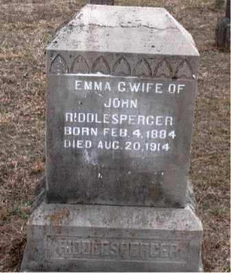 RIDDLESPERGER, EMMA  C. - Boone County, Arkansas | EMMA  C. RIDDLESPERGER - Arkansas Gravestone Photos