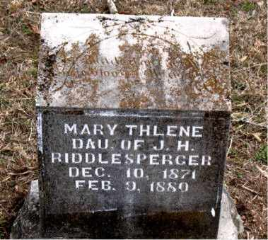 RIDDLESPERGER, MARY THLENE - Boone County, Arkansas | MARY THLENE RIDDLESPERGER - Arkansas Gravestone Photos