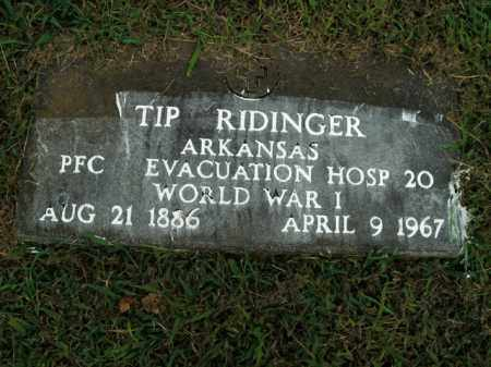 RIDINGER  (VETERAN WWII), TIP - Boone County, Arkansas | TIP RIDINGER  (VETERAN WWII) - Arkansas Gravestone Photos