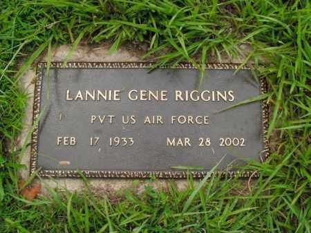RIGGINS  (VETERAN), LANNIE GENE - Boone County, Arkansas   LANNIE GENE RIGGINS  (VETERAN) - Arkansas Gravestone Photos
