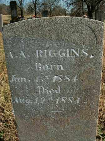RIGGINS, A.A. - Boone County, Arkansas | A.A. RIGGINS - Arkansas Gravestone Photos