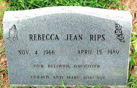 RIPS, REBECCA JEAN - Boone County, Arkansas | REBECCA JEAN RIPS - Arkansas Gravestone Photos