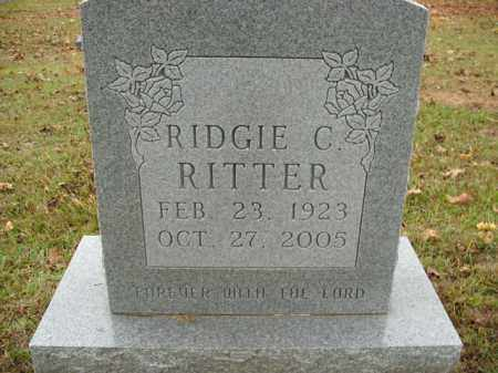 RITTER, RIDGIE C. - Boone County, Arkansas | RIDGIE C. RITTER - Arkansas Gravestone Photos