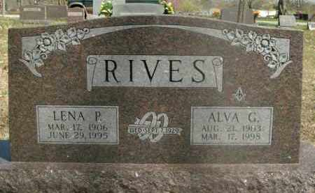 RIVES, ALVA G. - Boone County, Arkansas | ALVA G. RIVES - Arkansas Gravestone Photos