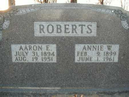 ROBERTS, AARON E. - Boone County, Arkansas | AARON E. ROBERTS - Arkansas Gravestone Photos