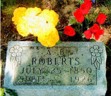 ROBERTS, A. B. - Boone County, Arkansas | A. B. ROBERTS - Arkansas Gravestone Photos